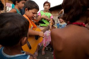 One of the constants in Roma life is their love of music which starts at an early age