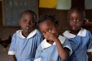 School girls in a village outside Kisumu, Kenya.