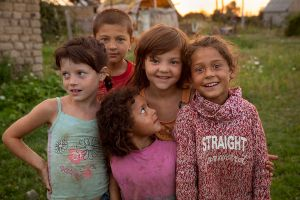 Roma children in Ukraine.