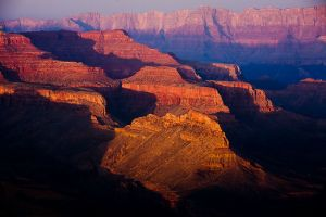Evening light in the Grand Canyon, Arizona
